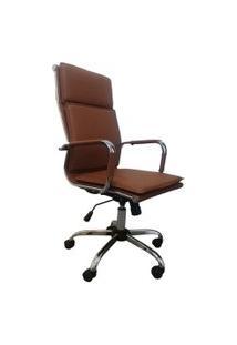Cadeira Office Byartdesign Esteirinha Soft Diretor Caramelo