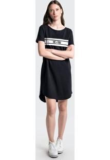 Vestido Curto T-Shirt Em Malha Com Estampa Frontal
