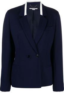Stella Mccartney Blazer Slim Com Abotoamento Duplo - Azul