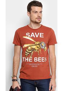 Camiseta Colcci Estampada Masculina - Masculino-Marrom