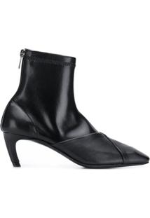 Low Classic Zipped Ankle Boots - Preto