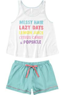 Pijama Curto Lazy Days Malwee Liberta