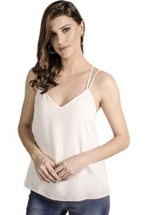 Regata Alça Calvin Klein - Feminino-Off White