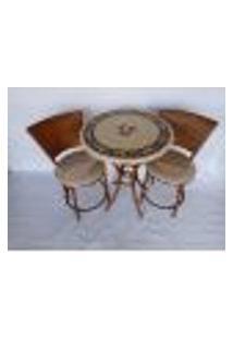 Conjunto De Mesa Com Cadeiras Bege Mosaico