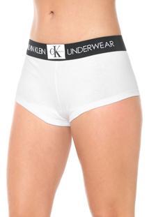 Calcinha Calvin Klein Underwear Boxer Monogram Branca