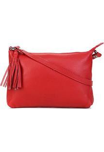 Bolsa Couro Santa Lolla Floater Mini Bag Feminina - Feminino-Vermelho