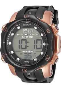 6382540debf PoliHouse. Relógio Preto Bronze Masculino Speedo Seculus Casual Grande  Digital ...