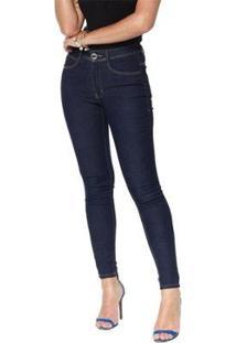 Calça Jeans Denuncia Mid Skinny Z 24225 1 Un Azul - Azul - 50 - Feminino