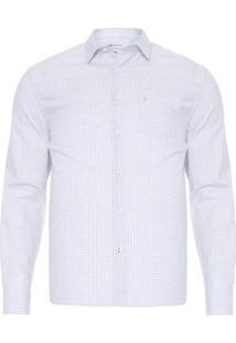 Camisa Masculina Xadrez Ft - Cinza