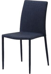Cadeira Indonesia Estofada Tecido Sintetico Grafite - 30744 - Sun House