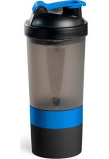 Coqueteleira Multishaker 3 Em 1 500 Ml Topget Azul.