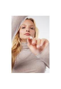 Blusa Em Modal Cashmere Ultralight Gola Alta - Off-White P