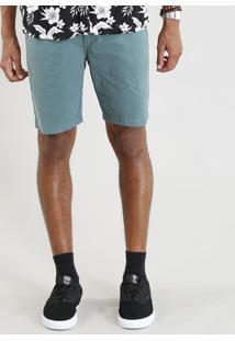 Bermuda De Sarja Masculina Slim Verde