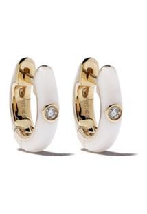 Ef Collection Par De Brincos De Ouro Amarelo 14K Com Diamante - Gold