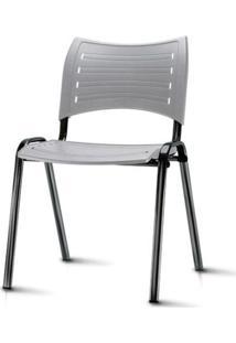 Cadeira Iso Assento Cinza Base Preta - 54034 Sun House
