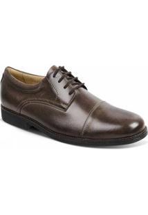 Sapato Social Couro Derby Sandro Moscoloni Jorge Masculino - Masculino-Marrom Escuro