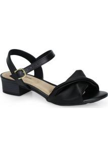 Sandália Salto Grosso Conforto Modare