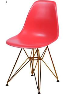 Cadeira Eames Polipropileno Vermelho Base Cobre - 45969 Sun House