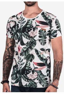 Camiseta Floral Branca 101854
