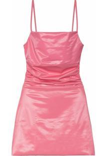 Maisie Wilen Vestido Com Efeito De Brilho - Rosa