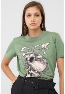Camiseta Colcci Welcome To The Future Verde