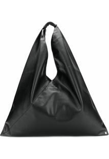 Mm6 Maison Margiela Bolsa Tote Triangular - Preto
