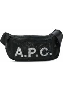 A.P.C. Pochete Com Estampa De Logo E Mesh - Preto