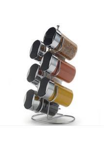 Porta Condimentos De Bancada Arthi Com 6 Peças Ref-5308