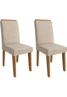 Cadeira Cimol Beatriz Amadeirado (2 Unidades) Savana/Bege