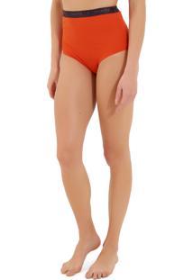 Calcinha Rosa Chá Audrey Elásticos 1 Beachwear Laranja Feminina (Pureed Pumpkin, P)