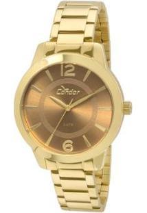 Relógio Condor Feminino Choque De Cores Co2035Kqe/4X - Co2035Kqe/4X - Feminino-Dourado