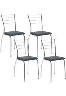 Cadeira 1700 Cromada 04 Unidades Jeans Carraro