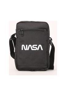 Bolsa Shoulder Bag Masculina Nasa Preta