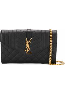 Saint Laurent Bolsa Tiracolo Envelope - Preto