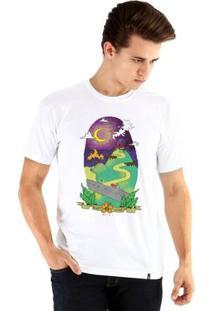 Camiseta Ouroboros Manga Curta Algum Lugar - Masculino
