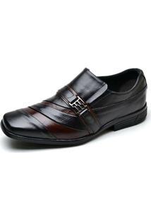 Sapato Social Top Franca Shoes Premium - Masculino-Preto+Marrom