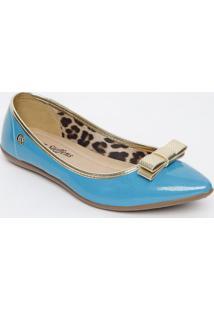 Sapatilha Envernizado- Azul & Douradacarmen Steffens