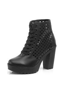 Bota Navit Shoes Tratorada Ajuste Preta