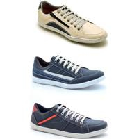ad211f740 Kit 3 Pares Sapatênis Casual Dexshoes Masculino - Masculino