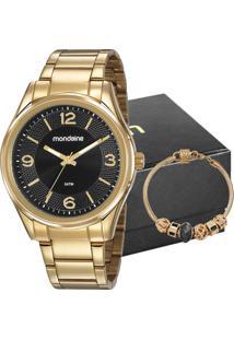 Kit Relógio Mondaine Feminino Com Pulseira 53811Lpmvde2K1