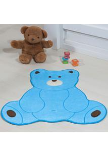Tapete Guga Tapetes Premium Formato Urso Fofo Azul Turquesa