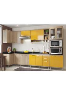 Cozinha Completa Multimóveis Com 7 Peças Sicília 5830 Argila/Amarelo