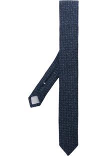 Eleventy Gravata Tweed - Azul