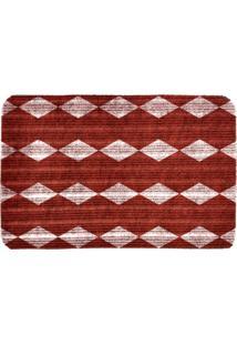 Capacho Carpet Triangulos Vermelho Único Love Decor
