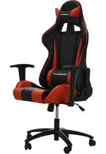 Cadeira Office Pro Gamer V2 Em Pu Preta E Vermelha - 27709 - Sun House