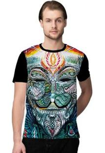 Camiseta Stompy Psicodelica33 Masculina - Masculino-Preto