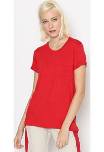 Blusa Flam㪠Com Bolso - Vermelhacalvin Klein
