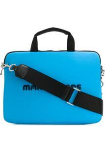 Marc Jacobs Bolsa Laptop Com Logo - Azul