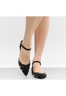 Sapatilha Couro Shoestock Bico Fino Color Feminina