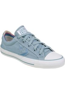 Tênis Feminino Converse All Star Star Player Ev Ox Celeste/Celeste/Bco - Co 0023.0002
